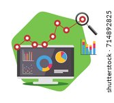 analysis system. business... | Shutterstock .eps vector #714892825