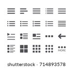 minimal set of hamburger menu... | Shutterstock .eps vector #714893578