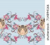 seamless pattern  background... | Shutterstock .eps vector #714894166