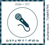 microphone icon | Shutterstock .eps vector #714895795