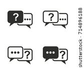 answer vector icons set. black... | Shutterstock .eps vector #714896188