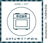 kitchen stove linear icon   Shutterstock .eps vector #714896356