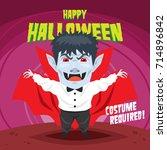 halloween poster design... | Shutterstock .eps vector #714896842
