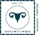 human organs. female uterus icon | Shutterstock .eps vector #714897856