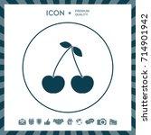 cherry icon   Shutterstock .eps vector #714901942