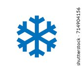 snowflake sign. blue snowflake... | Shutterstock .eps vector #714904156