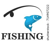 fishing logo template vector...   Shutterstock .eps vector #714907222