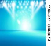 blue empty room studio gradient ... | Shutterstock . vector #714908626