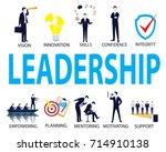 vector illustration. leadership ... | Shutterstock .eps vector #714910138