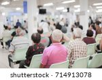 blur image of patients waiting... | Shutterstock . vector #714913078
