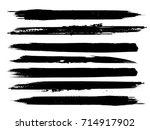 grunge paint stripe . vector... | Shutterstock .eps vector #714917902