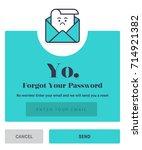 forgot password. flat style...