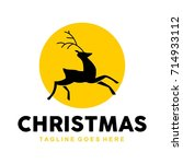 unique christmas logo template | Shutterstock .eps vector #714933112