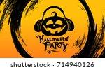 halloween party. halloween...   Shutterstock .eps vector #714940126