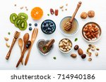 ingredients for a healthy foods ... | Shutterstock . vector #714940186