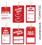 sales price tags | Shutterstock .eps vector #71494732