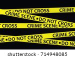 Crime Scene Tape. Vector...