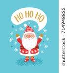 vector christmas background... | Shutterstock .eps vector #714948832