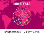 industry 4.0 and internet of... | Shutterstock .eps vector #714949246
