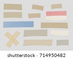 brown  colorful different size... | Shutterstock .eps vector #714950482
