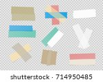 brown  colorful and white... | Shutterstock .eps vector #714950485