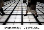 people silhouette walking... | Shutterstock . vector #714960052
