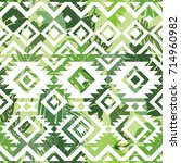 white seamless ethnic pattern... | Shutterstock .eps vector #714960982