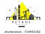 popularity oil refinery modern... | Shutterstock .eps vector #714965182