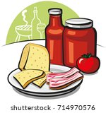 illustration of tomato sauce | Shutterstock . vector #714970576