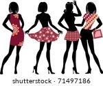 fashion girls   Shutterstock .eps vector #71497186