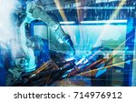 automatic welding technology | Shutterstock . vector #714976912