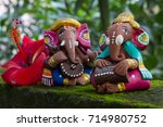 colors of ganesha  musical... | Shutterstock . vector #714980752
