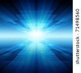 virtual tecnology vector... | Shutterstock .eps vector #71498560