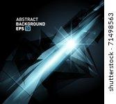 abstract 3d geometricbroken... | Shutterstock .eps vector #71498563