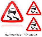 set of variants a slippery road ... | Shutterstock .eps vector #71498902