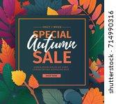 template design discount banner ... | Shutterstock .eps vector #714990316