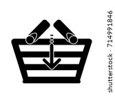 download shopping basket flat... | Shutterstock .eps vector #714991846