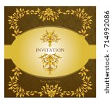 elegant save the date card... | Shutterstock .eps vector #714992086