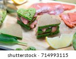 pancakes of spinach. on the...   Shutterstock . vector #714993115