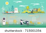 vector.electric station ... | Shutterstock .eps vector #715001356