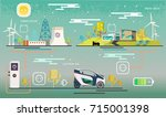 vector.electric station ... | Shutterstock .eps vector #715001398