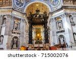 vatican   march 16  2016  the... | Shutterstock . vector #715002076