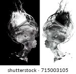 abstract surreal portrait of... | Shutterstock . vector #715003105