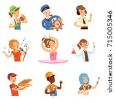 men and women of different... | Shutterstock .eps vector #715005346