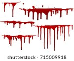 collection various blood or... | Shutterstock .eps vector #715009918