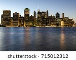 manhattan skyscrapers from... | Shutterstock . vector #715012312
