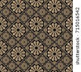 seamless pattern oriental... | Shutterstock .eps vector #715016542