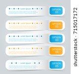 business infographic banner... | Shutterstock .eps vector #715017172