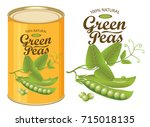 vector illustration of tin can... | Shutterstock .eps vector #715018135