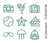 travel   vacation icon set | Shutterstock .eps vector #715020736